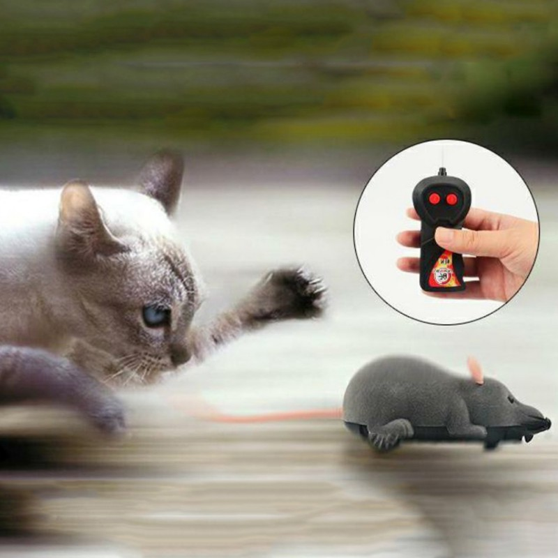 Cat Toy Wireless Remote Control Mouse Electronic RC Mice Toy Pets Cat Toy Mouse For kids toys freeshiping