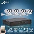 Plug And Play Câmera IP POE 1080 P IR Night Vison Para CCTV da Segurança Home Alarme E-mail Sistema de Vigilância 4CH POE NVR 2 TB HDD