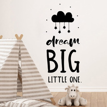 Creative dream big Wall Stickers Vinyl Waterproof Home Decoration For Living Room Kids Mural Poster