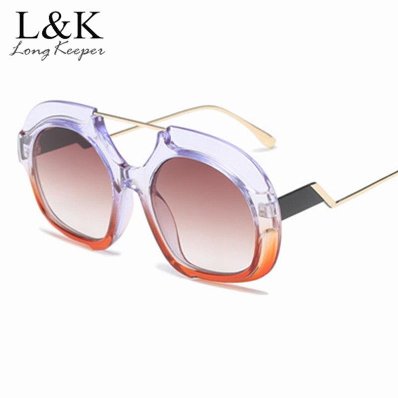Women's Sunglasses Oversized Round Sunglasses Women Large Size Sunglasses Men Transparent Gradient Frame Vintage Retro Vintage Sun Glasses Uv400
