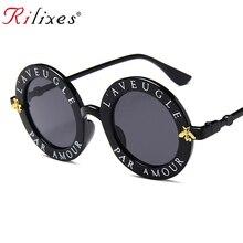e998096e7 RILIXES أحدث ريترو جولة النظارات الشمسية المرأة العلامة التجارية مصمم خمر  التدرج ظلال نظارات شمسية UV400 Oculos Feminino Lentes