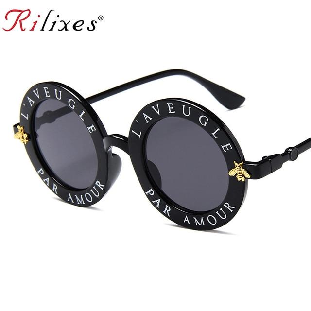 8184c41795 RILIXES Newest Retro Round Sunglasses Women Brand Designer Vintage Gradient Shades  Sun Glasses UV400 Oculos Feminino