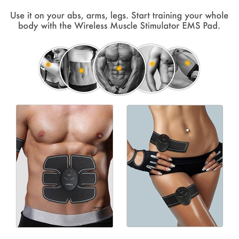 Unisex Wireless EMS Abdominal Muscle Toning Belt Stimulator 8