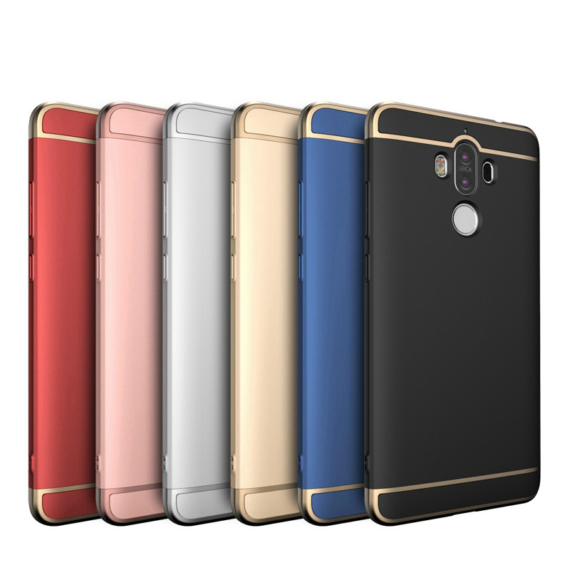 Ultra Thin Cases Cover for Huawei Mate 9 Matte Surface 3 in 1 Design Plating Frame Back Cover for Huawei mate9 pro Capa Fundas