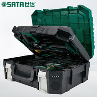 SATA 88pcs Electric household hardware toolbox, multi purpose electrician woodworking repair kit, hand drill 05152