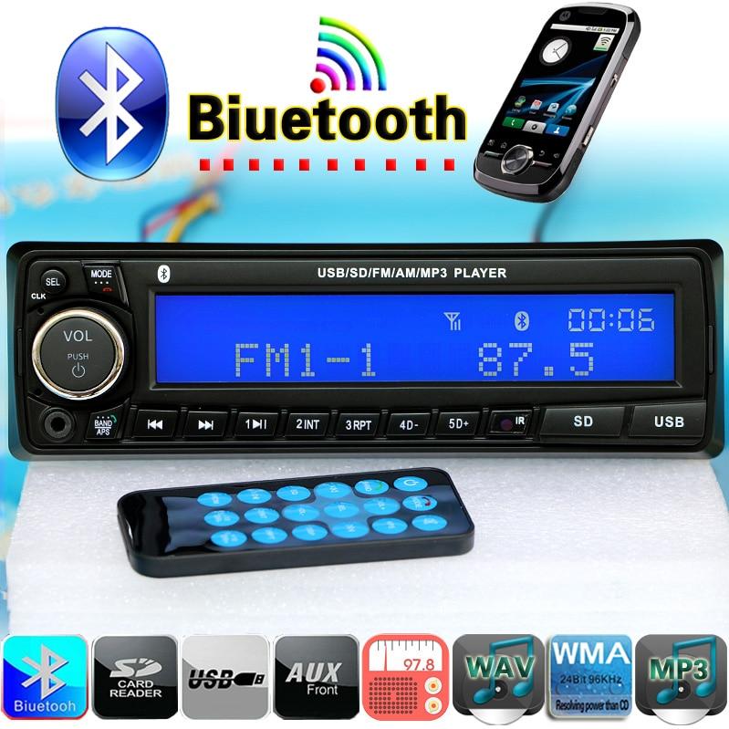 NEW 12V Bluetooth font b Car b font Radio Player Stereo FM MP3 Audio USB SD