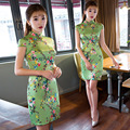 High Quality Floral Print Qipao Traditional Chinese Cheongsam Dress Qipao Oriental Dresses Chinese Style Dress