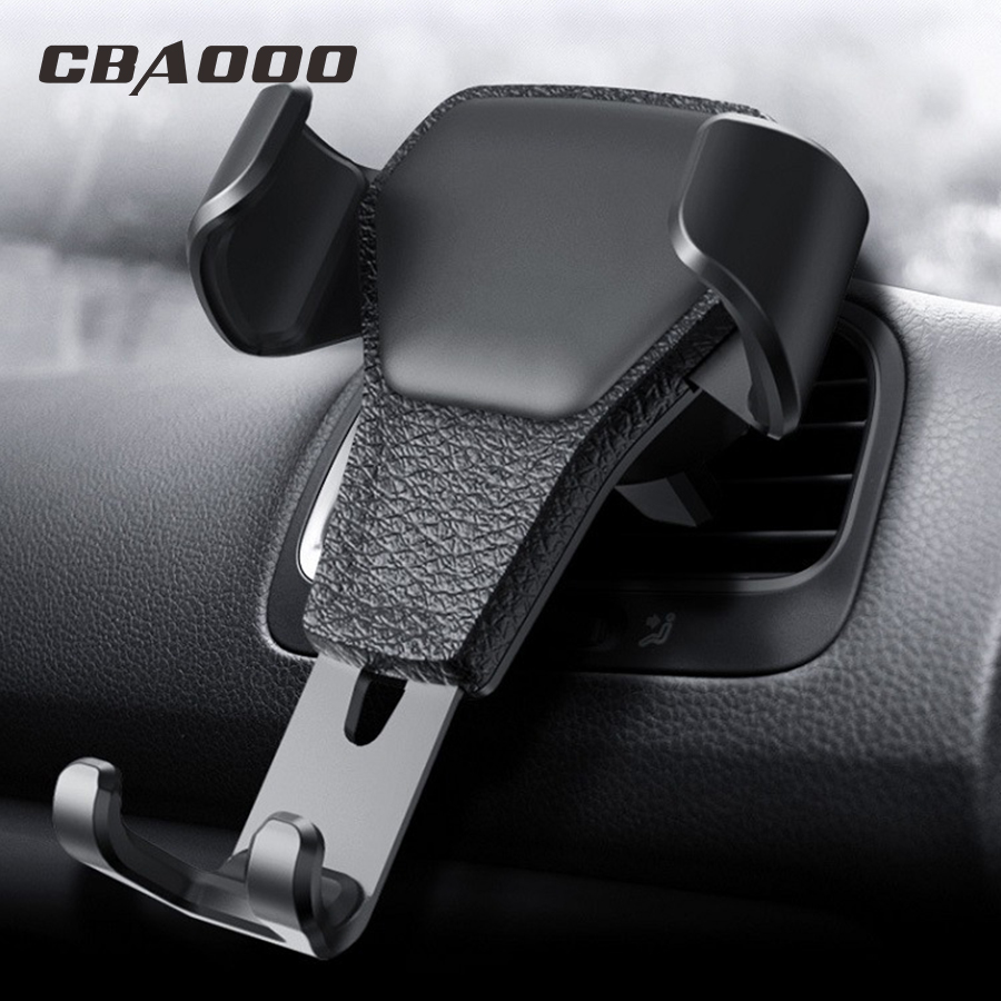 Gravity Bracket Universal Car Phone Holder Car Air Vent Mount In Car For Iphone X8 Samsung Xiaomi One Hand Operate Phone Stand