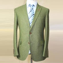 italy heavy army green tweed wool man's fashion jacket , casual jacket, custom tailor made man's MTM wedding suit free shipping