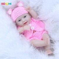11 Inch Mini Doll Reborn Babies Full Silicone Vinyl Body Lifelike Newborn Dolls Realistic Boy Baby Toys Children Birthday Gifts