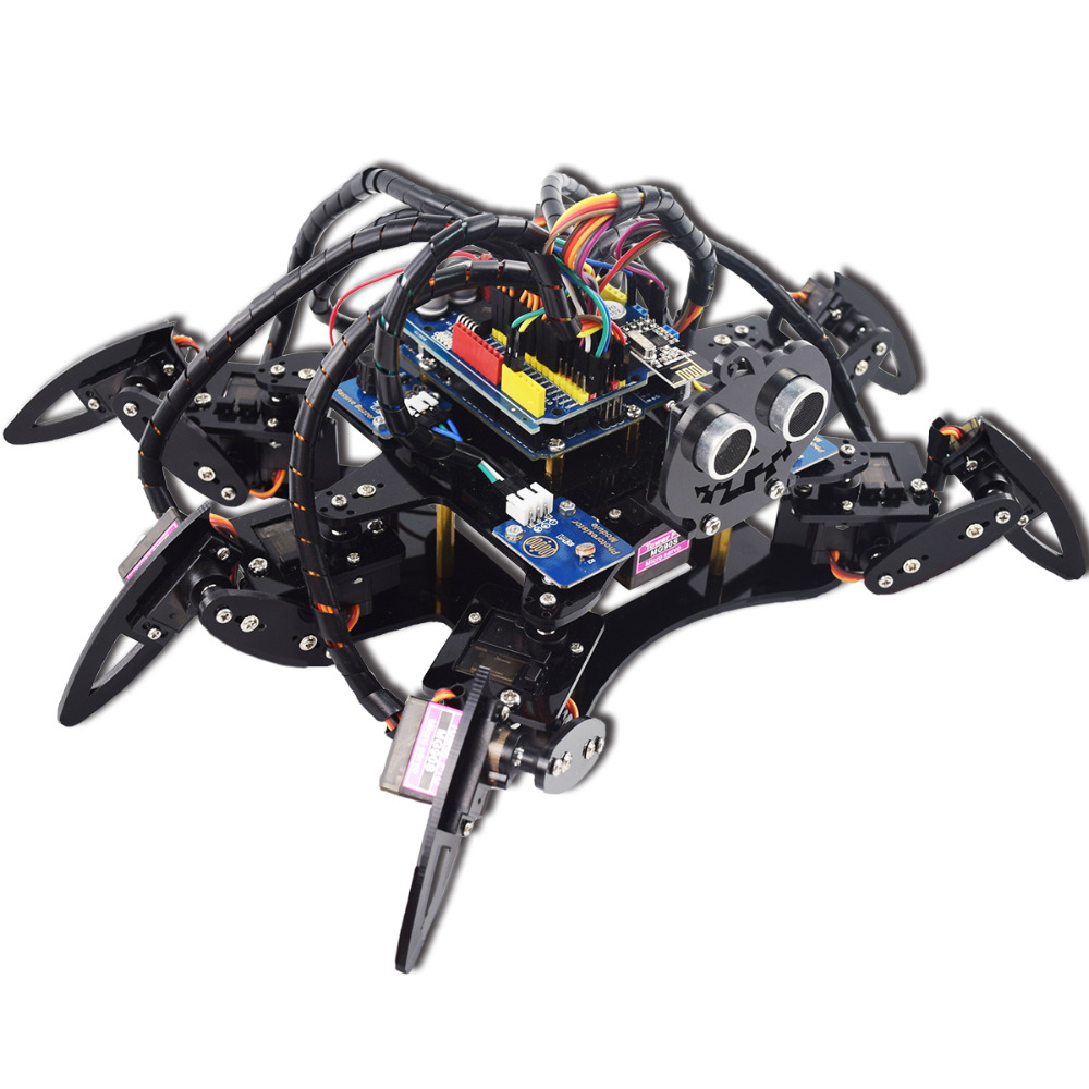 Adeept Hexapode 6 Pattes Robot Araignée Kit pour Arduino UNO R3 avec PDF Guide