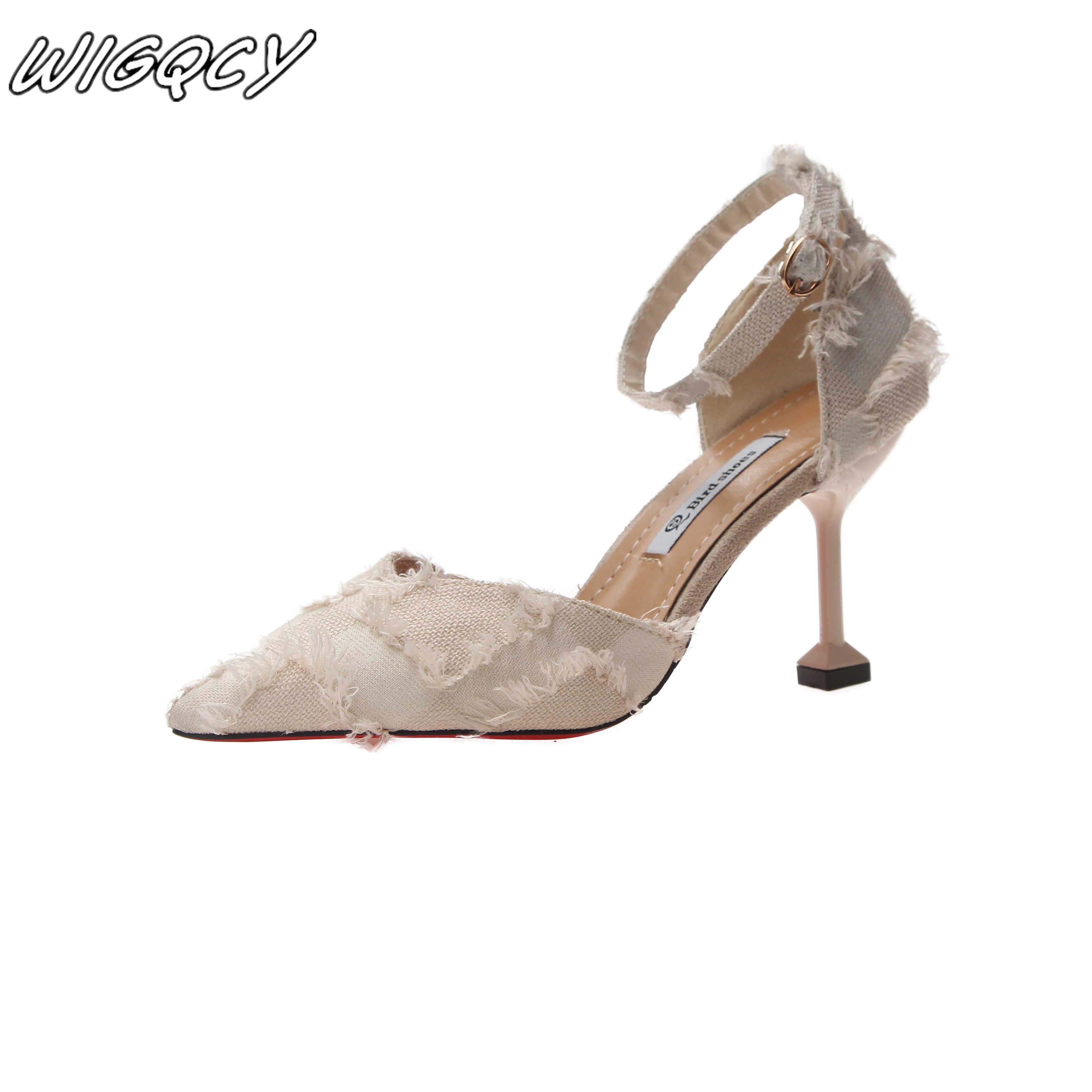 2019 yeni kadın tasarımcı tasarım kadın seksi yüksek topuklu lüks Tek düğme Toka seksi balo düğün ayakkabı Stiletto topuklu