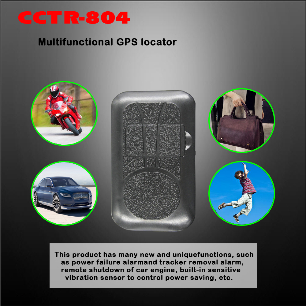 4G GPS Tracker CCTR-804 GPS/GPRS contrôle intelligent d'économie d'énergie intégré g-sensor pour la sécurité de la voiture d'alarme de choc