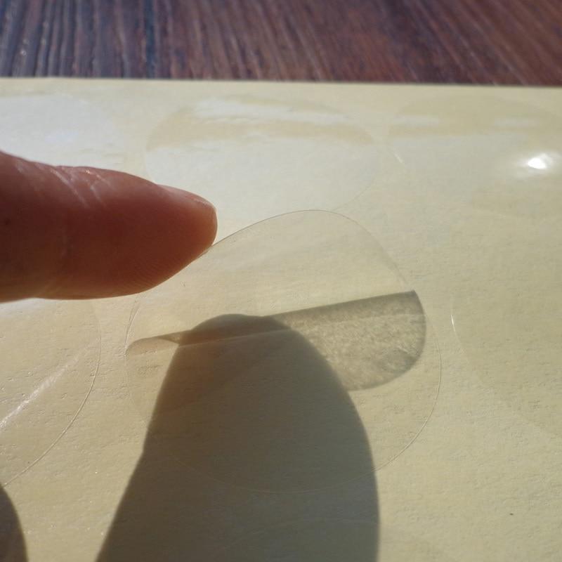 1 Sheet Round Clear Sticker Label Transparent Scrapbooking PVC Making Crafts