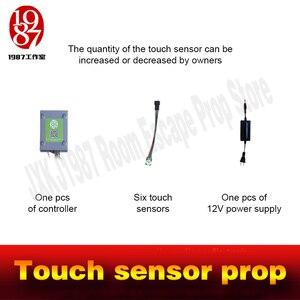 Image 4 - Sensor táctil peop de escape para la habitación, accesorio táctil para desbloquear juegos de aventura de la vida real, cámara jxkj1987