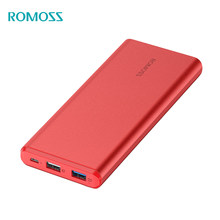 Original ROMOSS Power Bank 10000mAh GT Pro Quick Charge 3.0 LED Display Li-polymer Battery Output for iPhoneX Samsung Xiaomi ios(China)