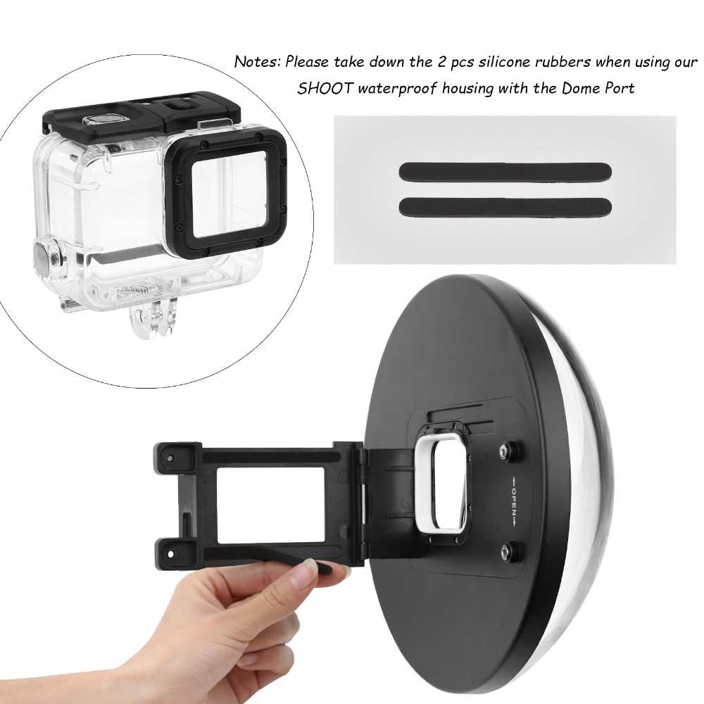 New 6 inch Dome for Gopro Hero 5 Black Action Camera With Floaty Grip Waterproof Case Go Pro Hero 5 Dome Port GoPro Accesory