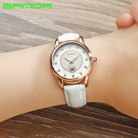 Sanda Hot Famous Brand Watch Women Leather Wristwatches Women S Dress Watches Casual Quartz Watch Luxury