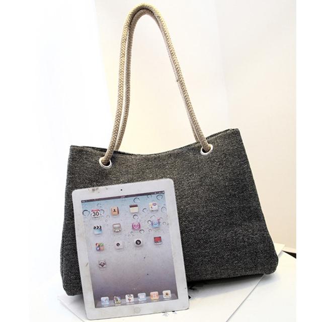 Summer Beach Bag Woven Beach Shoulder Bag 2017 Fashion Women Linen Handbag Large Shopping Tote Holiday Big Basket Bags JXY550