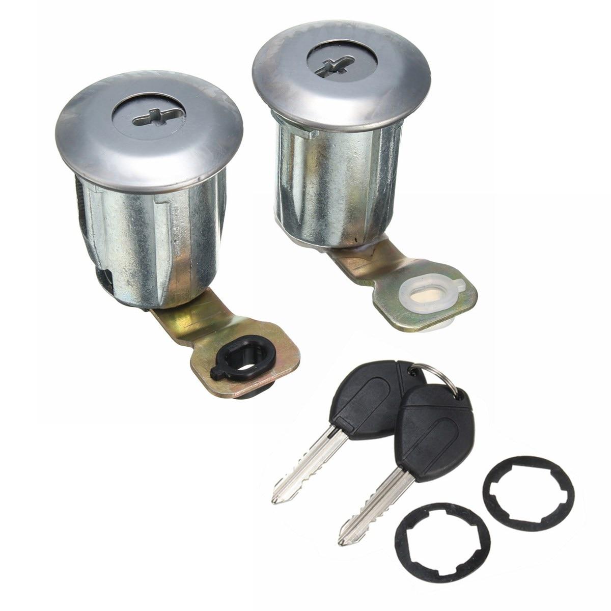 Lot of 10 Door Lock Cylinder Covers Chrome Cap Car Truck Fits Most 62-355
