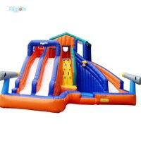 YARD Odkryty Nadmuchiwane Rekreacji 4 w 1 Nadmuchiwana Zjeżdżalnia z Basen dla dzieci Dorosłych Duży rozmiar z Dmuchawy funny grać