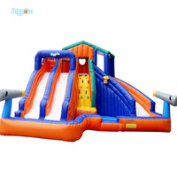 YARD Outdoor Inflatable Recreation 4 in 1 Inflatable Water Slide with Pool for children Adult Large size with Blower funny play