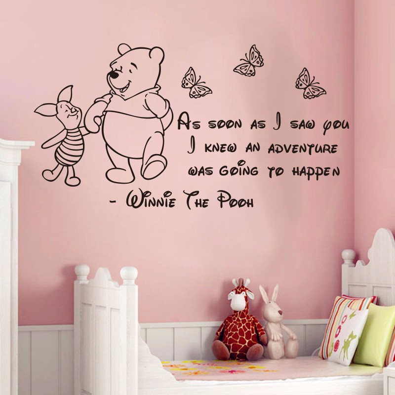 New design Winnie The Pooh Wall Stickers Baby Wall ...
