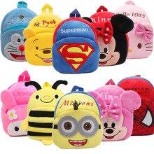 Дисней милый мини Винни Пух Микки Маус мультфильм Детский плюшевый рюкзак игрушка сумка для мальчиков и девочек детская Студенческая сумка Детский подарок