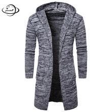 YAUAMDB/мужские свитера весна-осень трикотажные размер M-2XL Женская куртка с капюшоном кардиган вязаный одежда Карманы Тонкий мужской одежды ly78