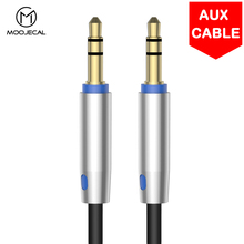 MOOJECAL 1m Jack Audio Cable 3.5 mm to 3.5mm Aux Cable Male to Male Kabel Gold Plug Car Aux Cord for iphone 7 xiaomi for speaker