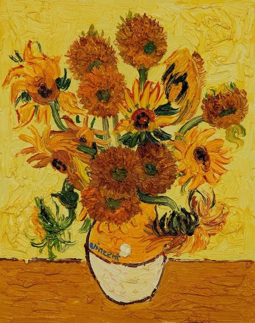 Painting Of The Sunflowers By Vincent Van Gogh - Best Image 2017