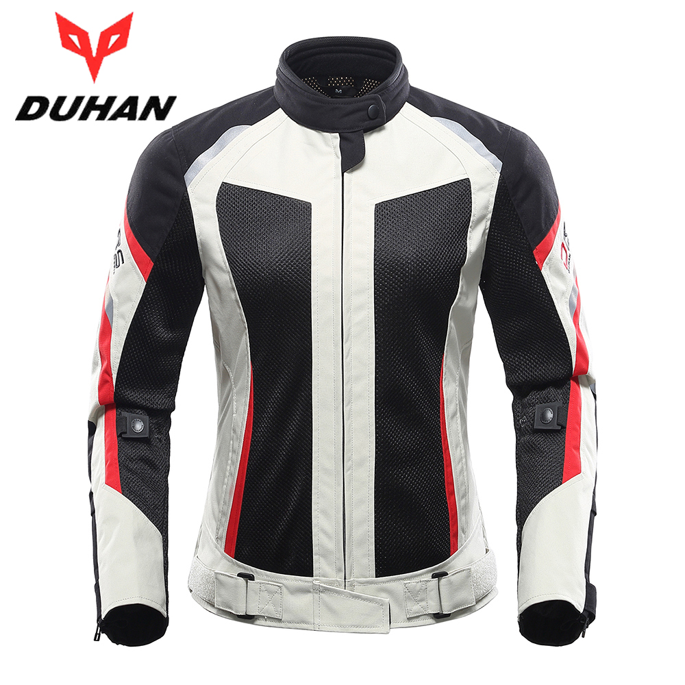 DUHAN Women Motorcycle Jacket Breathable Motorcycle ...