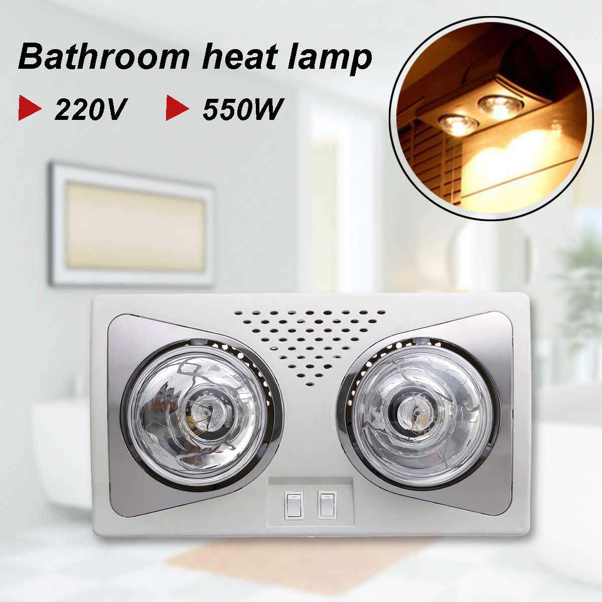 Detail Feedback Questions about 220V 550W Bathroom Heat Lamp LED ...