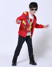 Hot Sale 2016 autumn Children boys Clothing Set fashion Iron Man sports suit and boys Altman autumn clothes high quality