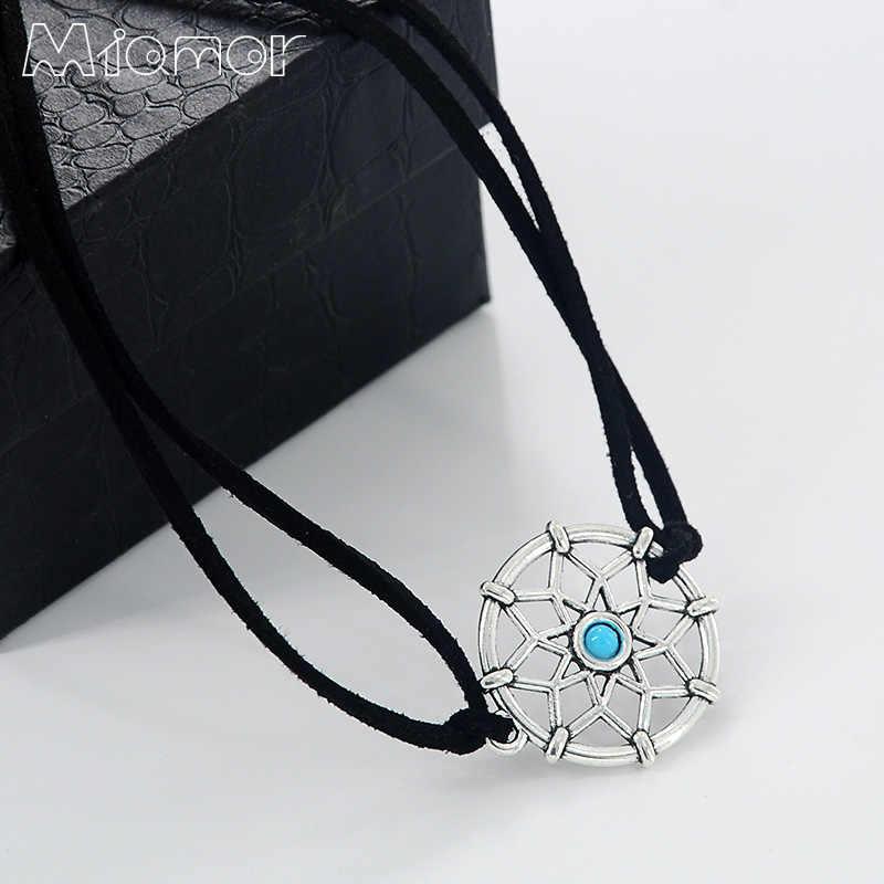 MIAMOR Handmade Preto Mini Amor5352 Dreamcatcher Pulseira & Colar Melhor Presente Para A Namorada