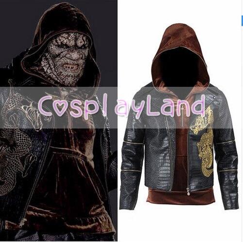 Suicide Squad tueur Croc Whalen Jones Costume Halloween fête Cosplay vêtements pour hommes film Cos vestes drôle adulte manteau