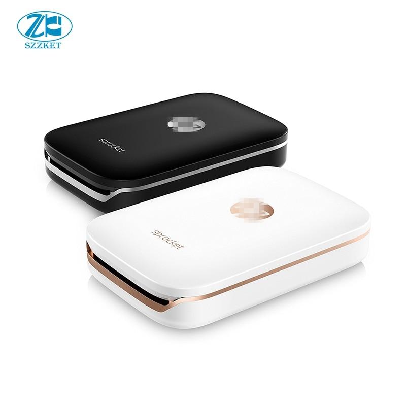 Pocket photo printer mobile phone bluetooth portable printer mini home sprocket  for hp ZINK Photo Paper Printing No ink mobile phone