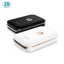 Impressora de bolso foto impressora portátil do bluetooth do telefone móvel mini casa de roda dentada para hp Papel Fotográfico ZINK Impressão Sem tinta