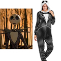 Nightmare Before Christmas Jack Adult Onesie Fleece Pajamas Halloween Night anime cosplay cartoon