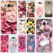 Peony Sunflowe Rose Daisy Plum blossom Plants Flower Hard for Samsung Galaxy A3 A5 J5 prime