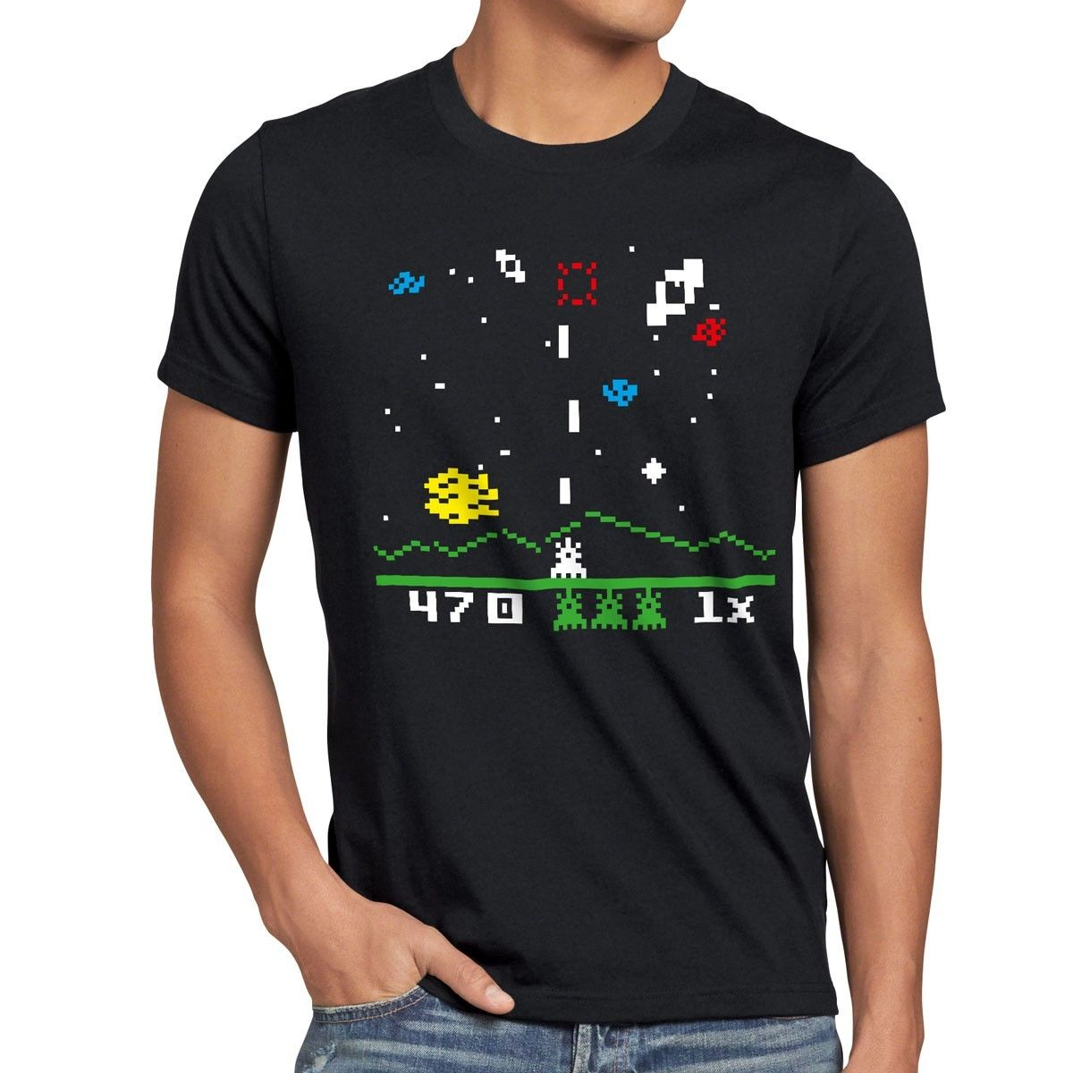 Invaders T-Shirt Big Sheldon Space bang astrosmash Cooper Game online 80s Theory Summer Short Sleeves Cotton Fashion t Shirt