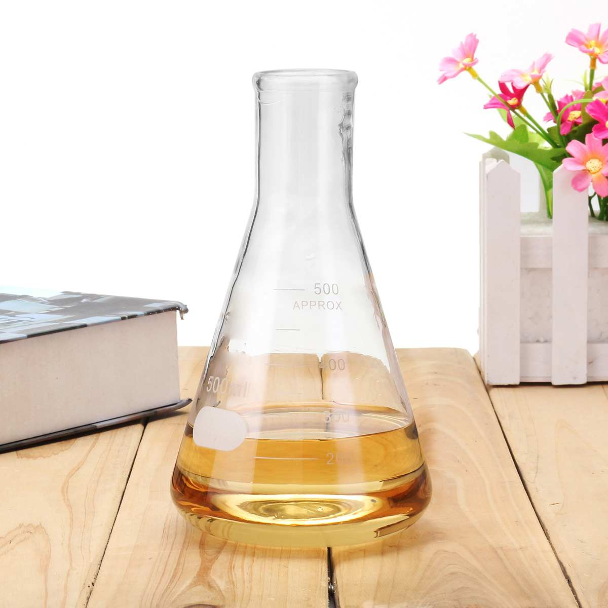 500ml Glass Flask Conical Flask Erlenmeyer Glass Bottle Laboratory Borosilicate Glassware Capacity Bottle