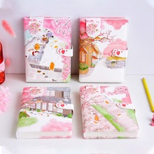 Sakura Cat v3 Faux Leather Journal Diary Cute Study Notebook Notepad Beautiful Stationery Gift