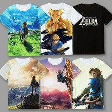 2017 Game The Legend of Zelda Breath of The wild Lovely Printing Custom Made T-shirt Tees Gift