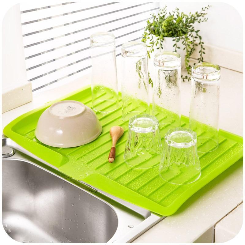 New Dishes Sink Drain Plastic Filter Plate Storage Rack Shelving Rack Drain  Board Kitchen Tools Hogard In Racks U0026 Holders From Home U0026 Garden On ...
