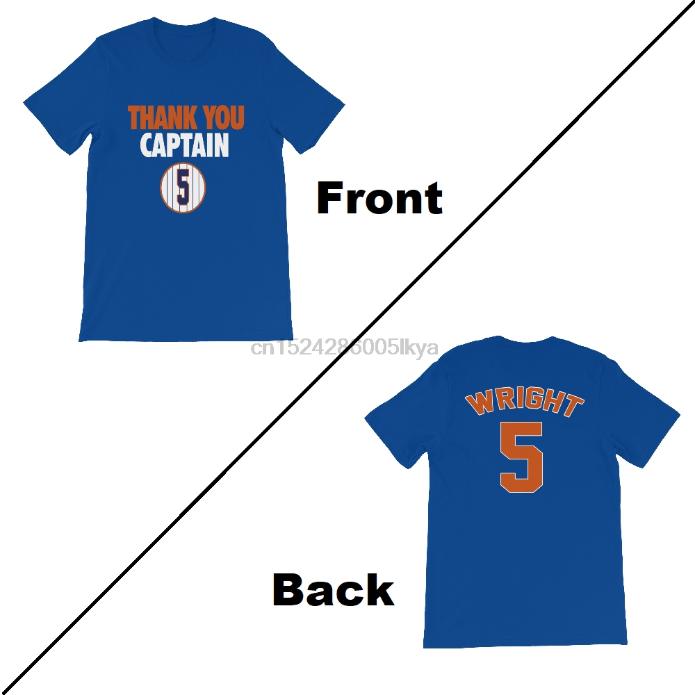 reputable site c1cbf e20a7 US $12.99 |David Wright THANK YOU CAPTAIN METS JERSEY SHIRT COMBO Retired 5  Logo FAREWELL-in T-Shirts from Men's Clothing on Aliexpress.com | Alibaba  ...