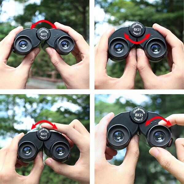 Svbony crianças binóculos 8x21professional telescópio proteção visão