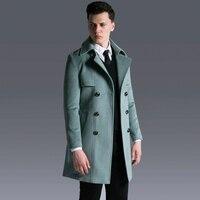 Марка Европа Высокое качество S 6XL Шерстяное пальто 2018 последние Дизайн Slim Fit шерстяные Костюмы мужской Повседневное Бизнес зимние пальто