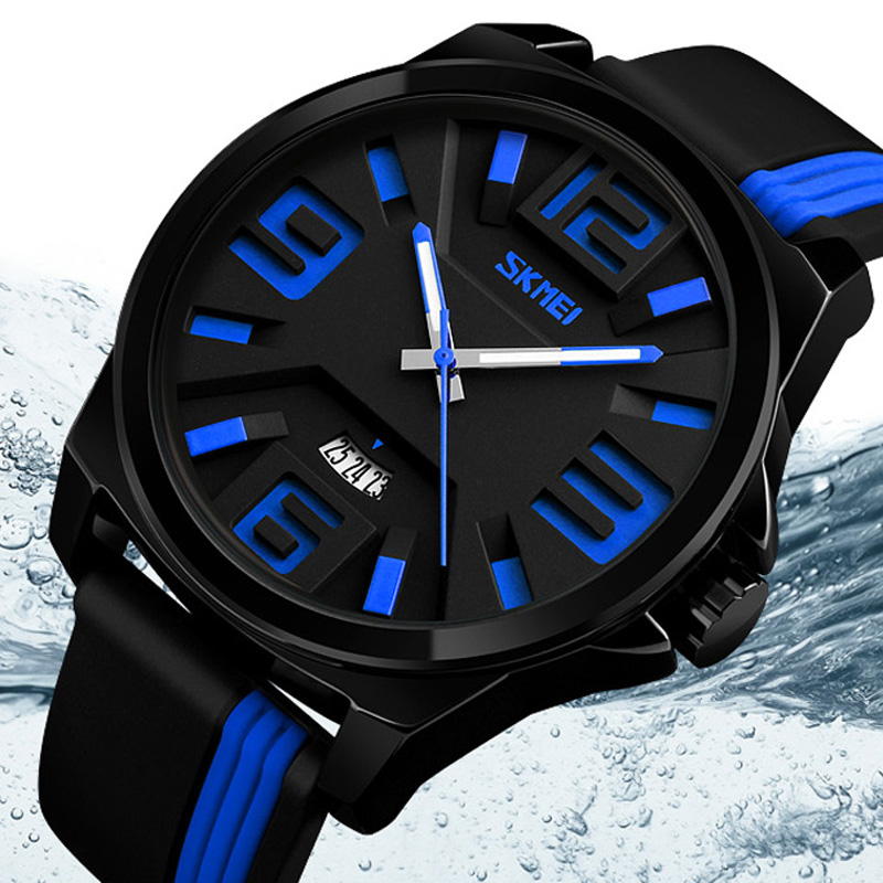 2018 SKMEI Watch Men Sport Quartz Watches Colorful Fashion and Casual Watches Clearly See Analog Male Clock Relogio Masculino wedding rings 925 sterling silver rings for men blue topaz ring fashion gift jewelry 100