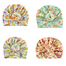 Newborn baby Headband Cotton Printed Baby Hat Elastic Knot Infant Turban Girl Head Warp Hair Accessories Age 1-18M
